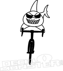 Bike Shark Decal Sticker