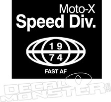 Moo-x Speed Div Motorcycle Decal Sticker