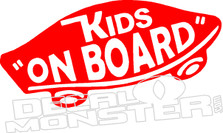 Kids On Board Vans Skateboard Decal Sticker