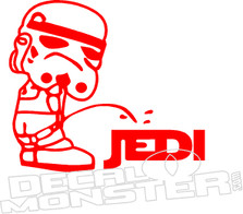 Storm Trooper Pee on Jedi Star Wars Decal Sticker