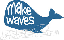 Whale Make Waves Decal Sticker