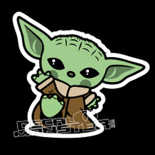 Baby Yoda Cutest Star Wars Decal Sticker DM
