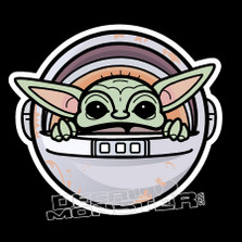 Baby Yoda Pod Star Wars Decal Sticker DM