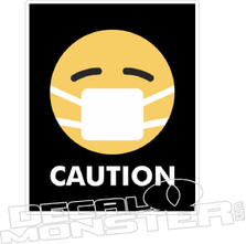Caurion Face Mask Coronavirus Covid-19 Decal Sticker