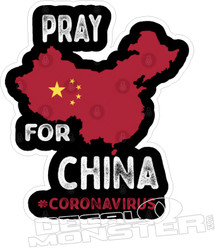 Coronavirus Pray For China Decal Sticker DM