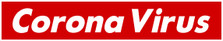 Supreme Corona Virus COVID-19 Decal Sticker DM