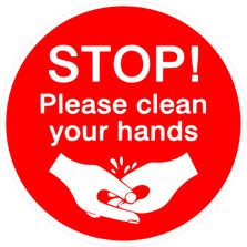 Stop Please Clean Your Hands COVID-19 Corona Virus Decal Sticker DM