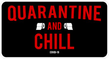 Netflix Quarantine and Chill COVID-19 Corona Virus decal sticker DM