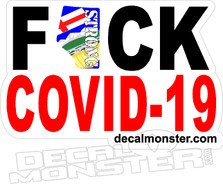 Fuck Covid-19 Alberta Strong Red Decal Sticker