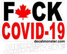 Fuck Covid-19 Canada Strong Red Decal Sticker