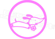 Daisy Dog Circle Hawaii Decal Sticker DM