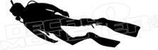 Scuba Diving Silhouette Hawaii Decal Sticker DM