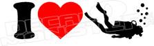 I Heart Scuba Diving Hawaii Decal Sticker DM