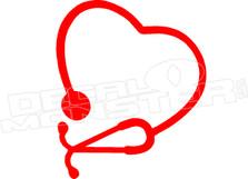 Nurse Doctor Stethascope Heart Hawaii Decal Sticker DM