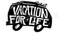 Vacation For Life Van Hawaii Decal Sticker DM