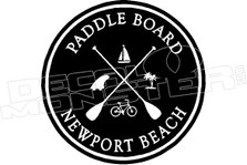 Paddle Board Newport Beach Hawaii Decal Sticker DM