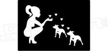Girl Love Pitbull Hawaii Decal Sticker DM