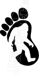 Big Foot3 Hawaii Decal Sticker DM