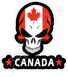Canada Skull Decal Sticker DM