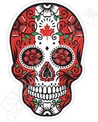 Canada Candy Sugar Skull Decal Sticker DM