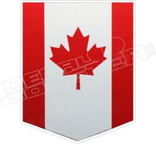Canada Flag Banner Decal Sticker DM