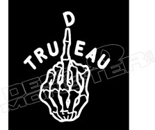 Fuck Trudeau Middle Finger Decal Sticker DM