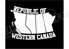 Republic of Western Canada Decal Sticker DM