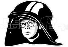 Space Balls Dark Helmet Decal Sticker DM