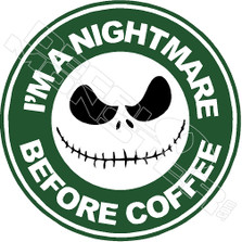 Nightmare Before Coffee Decal Sticker DM