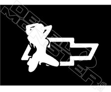 Chevy Sexy Girl Decal Sticker DM