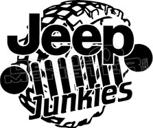 Jeep Junkies Tire Decal Sticker