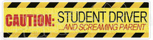 Student Driver Screaming Parent Decal Sticker