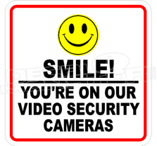 Smile Video Security Camera Decal Sticker
