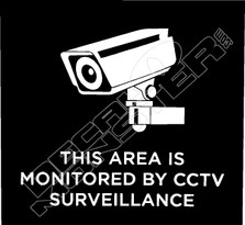 Monitored by CCTV Surveillance Decal Sticker