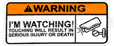 Warning I'm Watching Surveillance Decal Sticker
