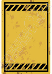 Warning Sign Blank Decal Sticker