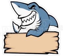 Shark Sign Decal Sticker