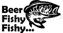 Beer Fishy Fishy Decal Sticker