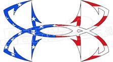 Underarmour Fish USA Flag Decal Sticker