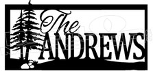 The Andrews Lake Gate Sign Decal Sticker