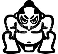 Sumo Wrestler JDM Decal Sticker