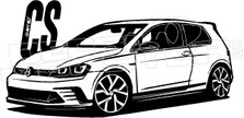 CS VW Golf Decal Sticker