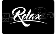 Relax Wording Decal Sticker