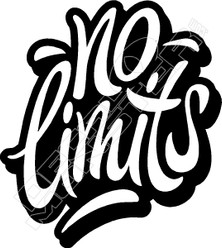 No Limits Wording Decal Sticker