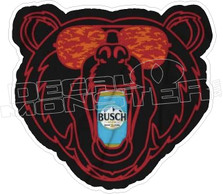 Busch Beer Bear Drinking Funny Decal Sticker