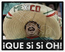 I Que Si Si Oh! Mexican Drinking Funny Decal Sticker