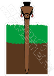 Mr T Golfing Funny Decal Sticker