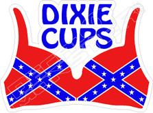 Dixie Cups Confederate Flag Decal Sticker