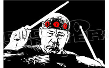 Rush Neil Peart Memorial Drummer2 Decal Sticker