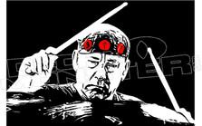 Rush Neil Peart Memorial Drummer2 Decal Sticker